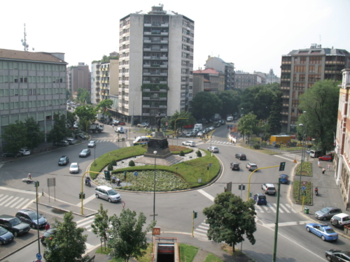 Vista della Piazza Buonarroti